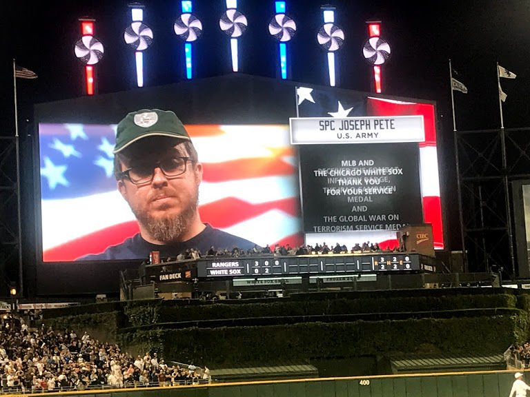 White Sox honor veterans with Hero of the Game program
