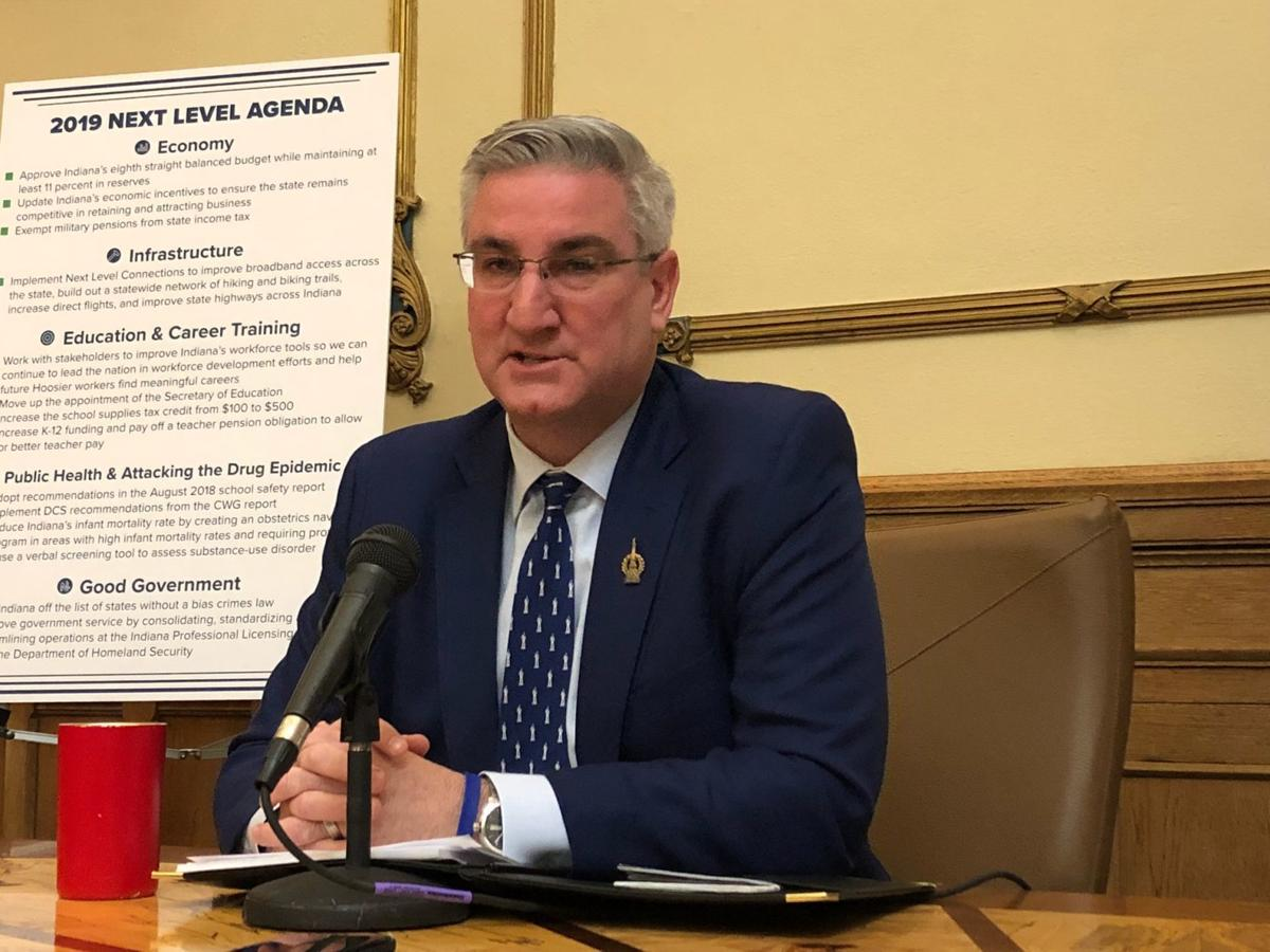 Holcomb admits using marijuana in college, still opposes legalization in Indiana