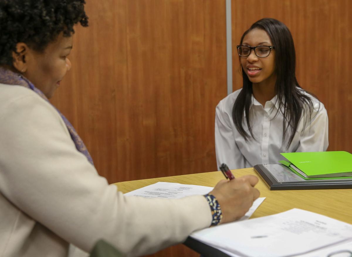 Mock interviews at the Hammond Area Career Center