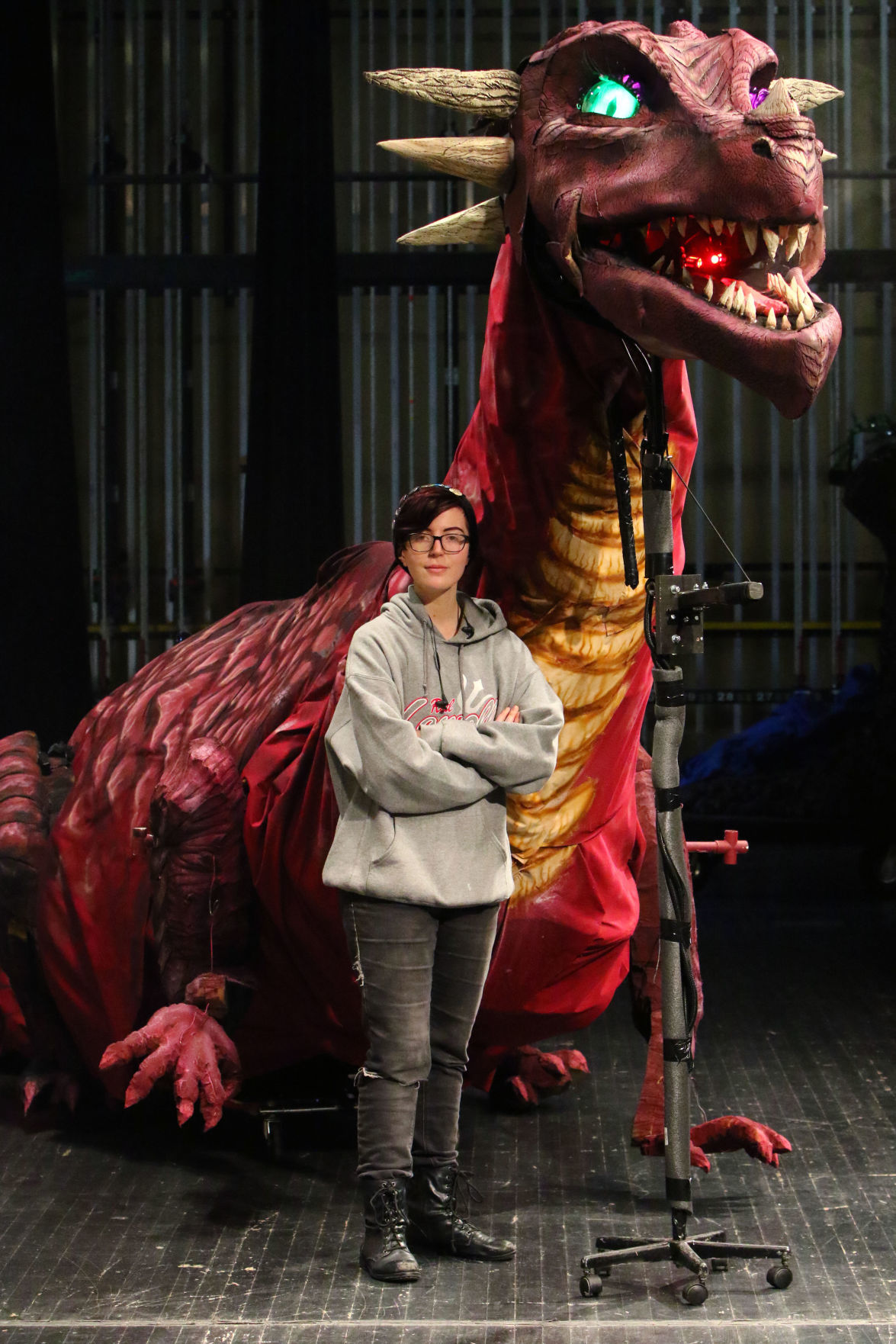 Madeline Bogathy and her dragon