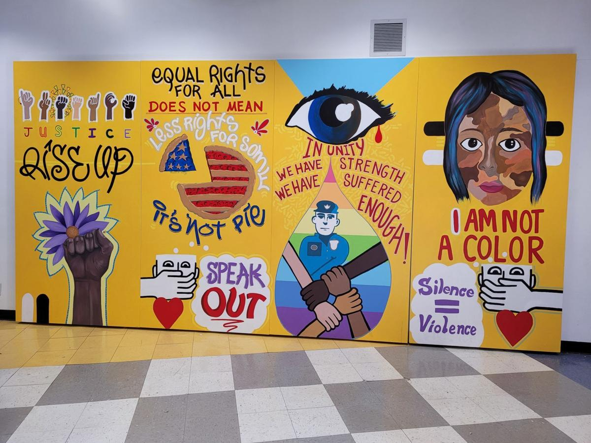 South Shore Arts Teen Arts Board commissions antiracism mural to be displayed around Region