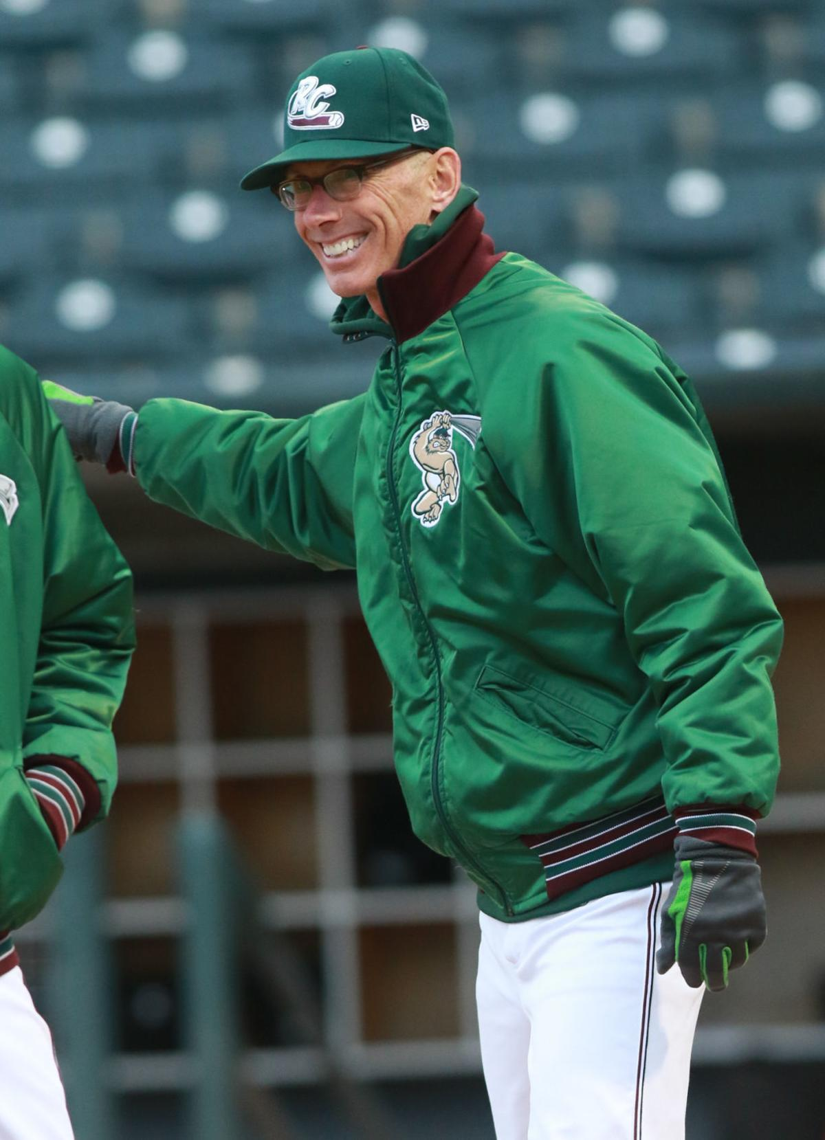 The RailCats' manager Greg Tagert