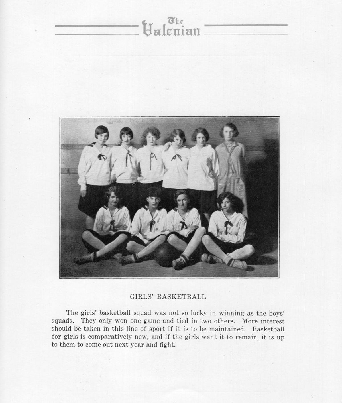 1926 Valparaiso High School girls basketball team.