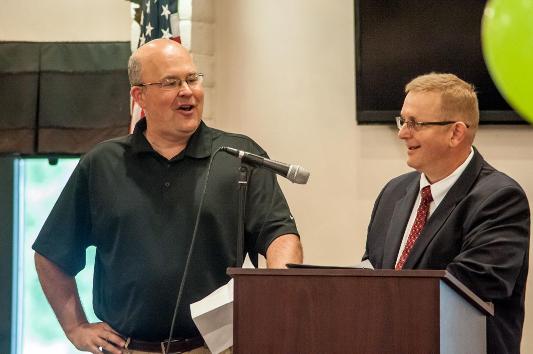 Terry Hufford lauded on years of service to Portage