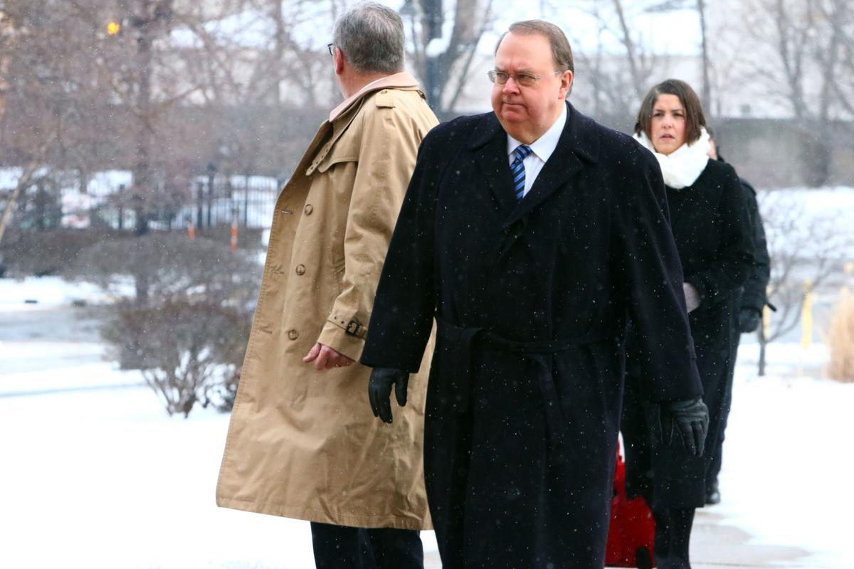 John Buncich arrives for sentencing