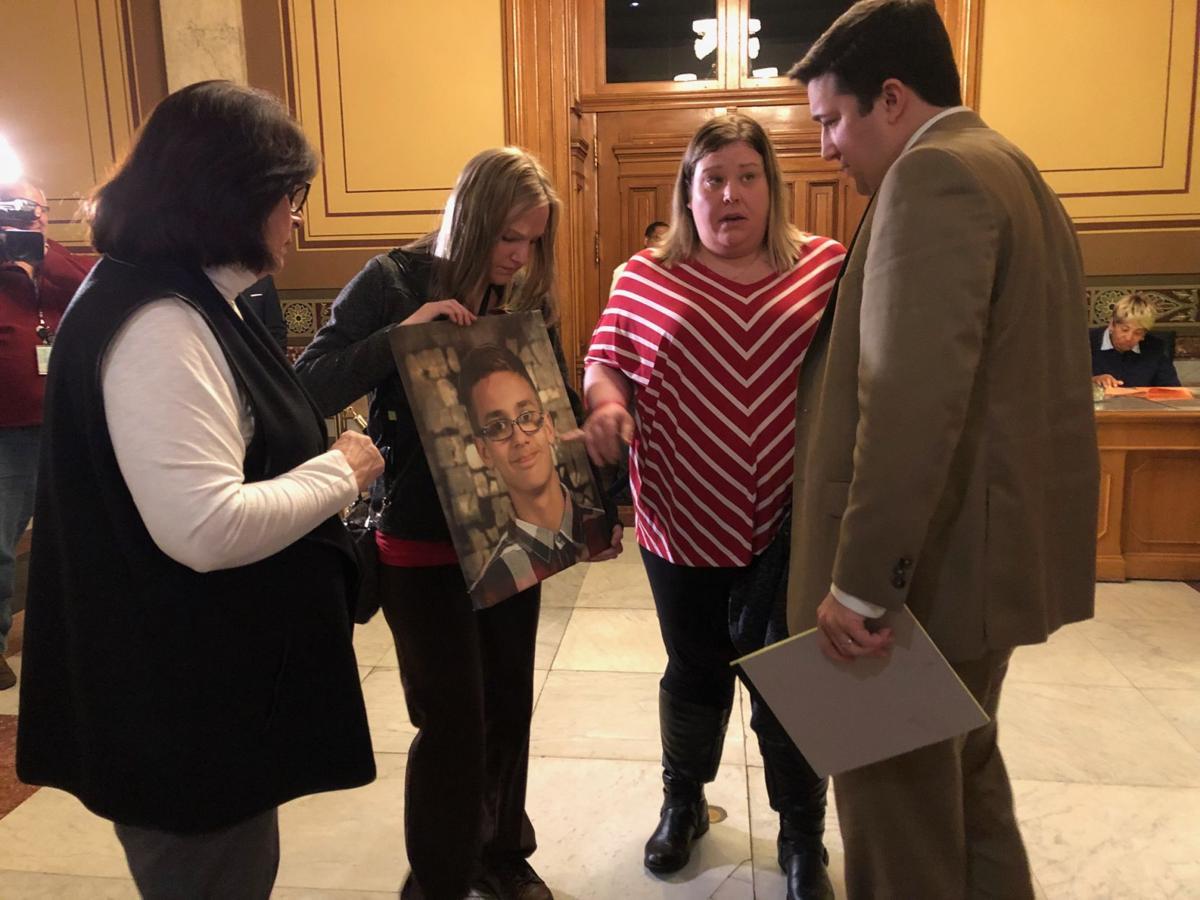 Mother, aunt of slain 13-year-old Hammond boy press state representatives to hear stray bullet legislation