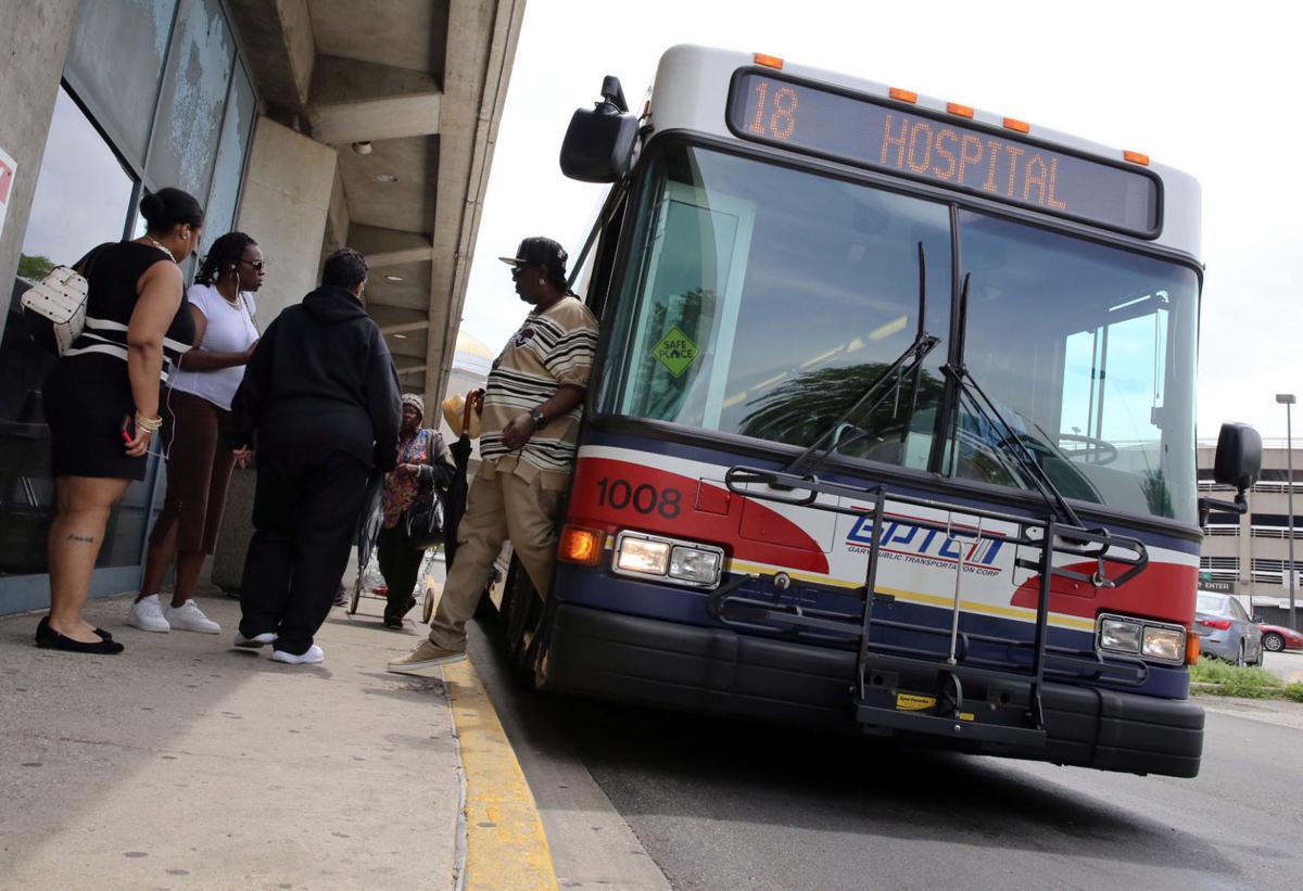 Gary bus at station