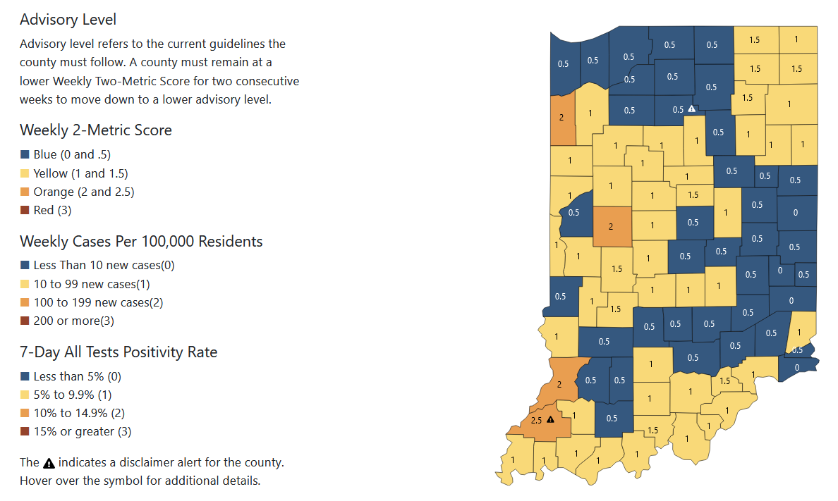 Half of eligible Hoosiers vaccinated against COVID-19 as Delta variant continues to spread