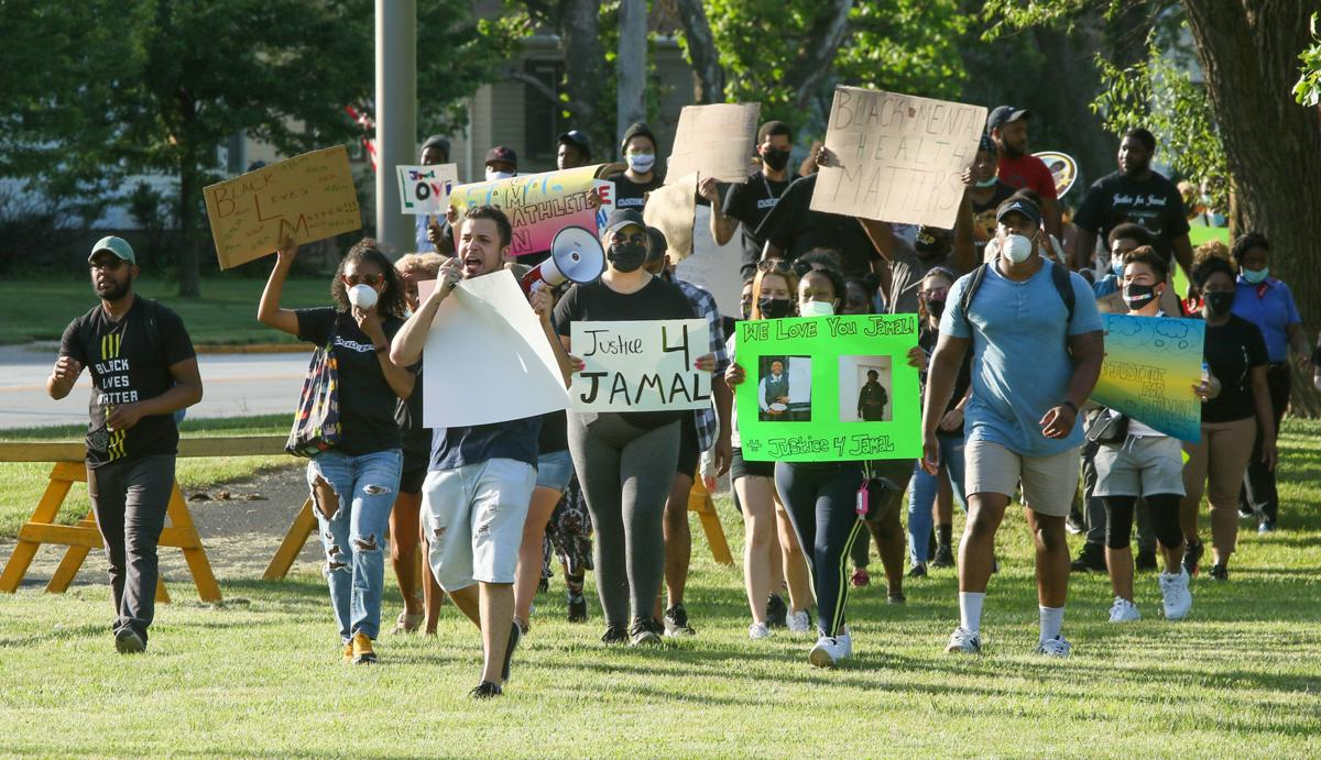 Protesting the shooting death of Jamal Williams