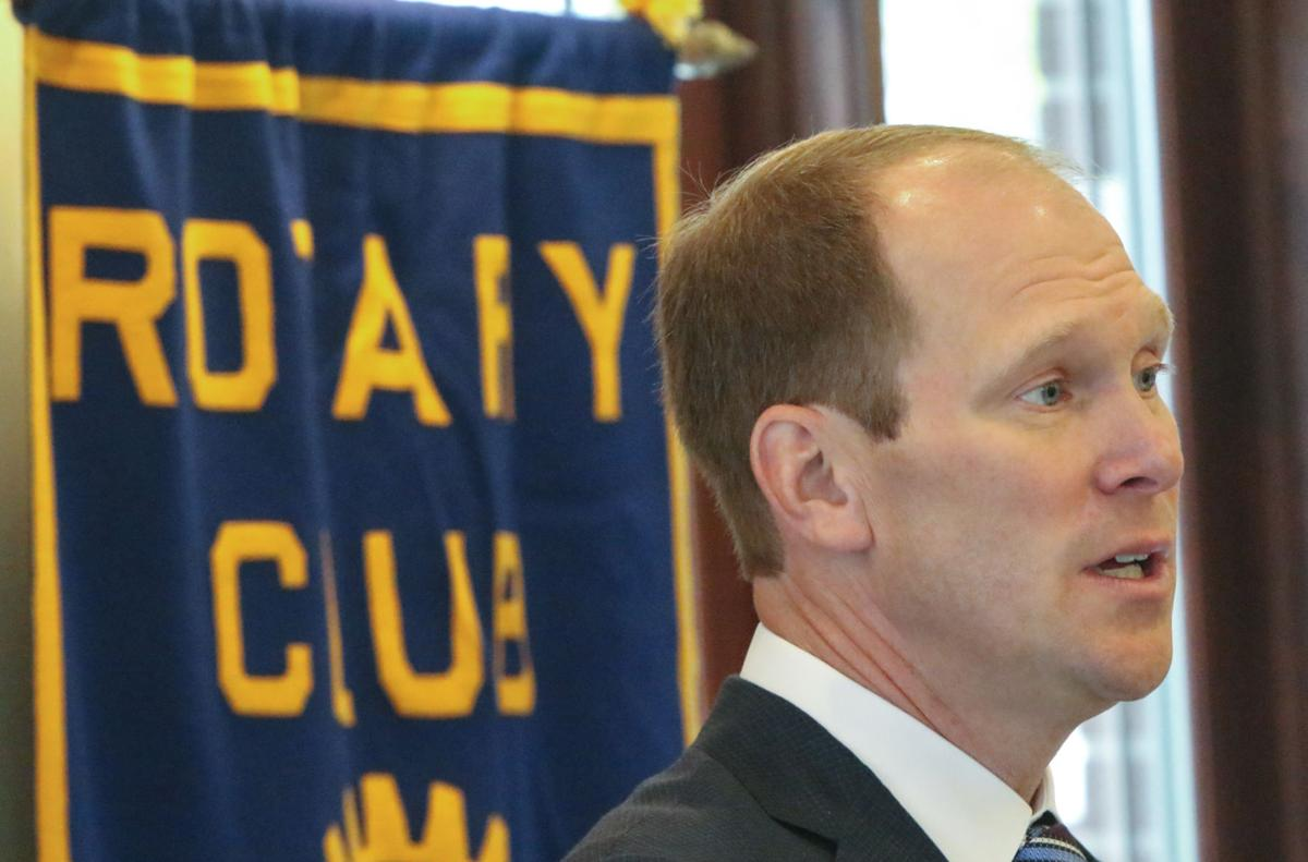 New U.S. Attorney Thomas Kirsch speaks to the Crown Point Rotary.