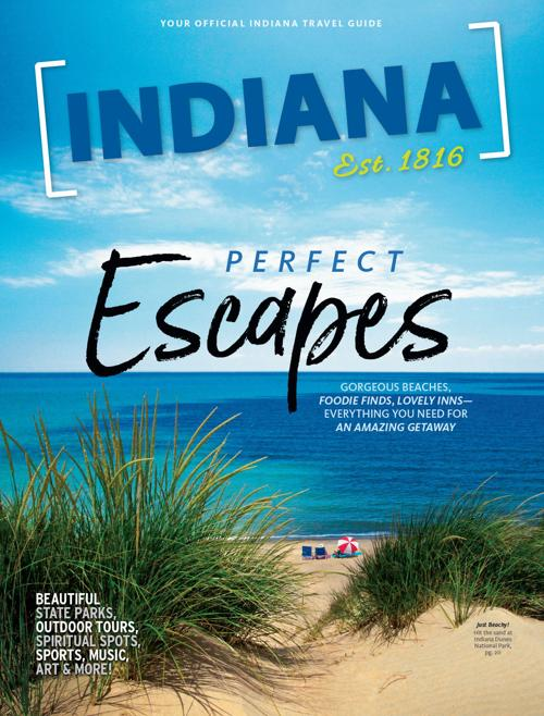 Indiana Dunes National Park featured on cover of 2020 state travel guide