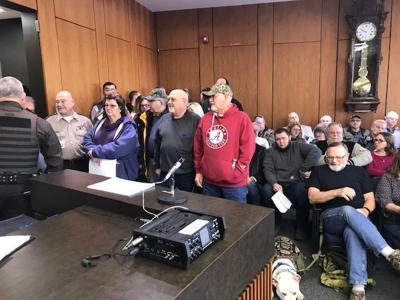Gun rights protesters crowd Tuesday's Lake County council meeting