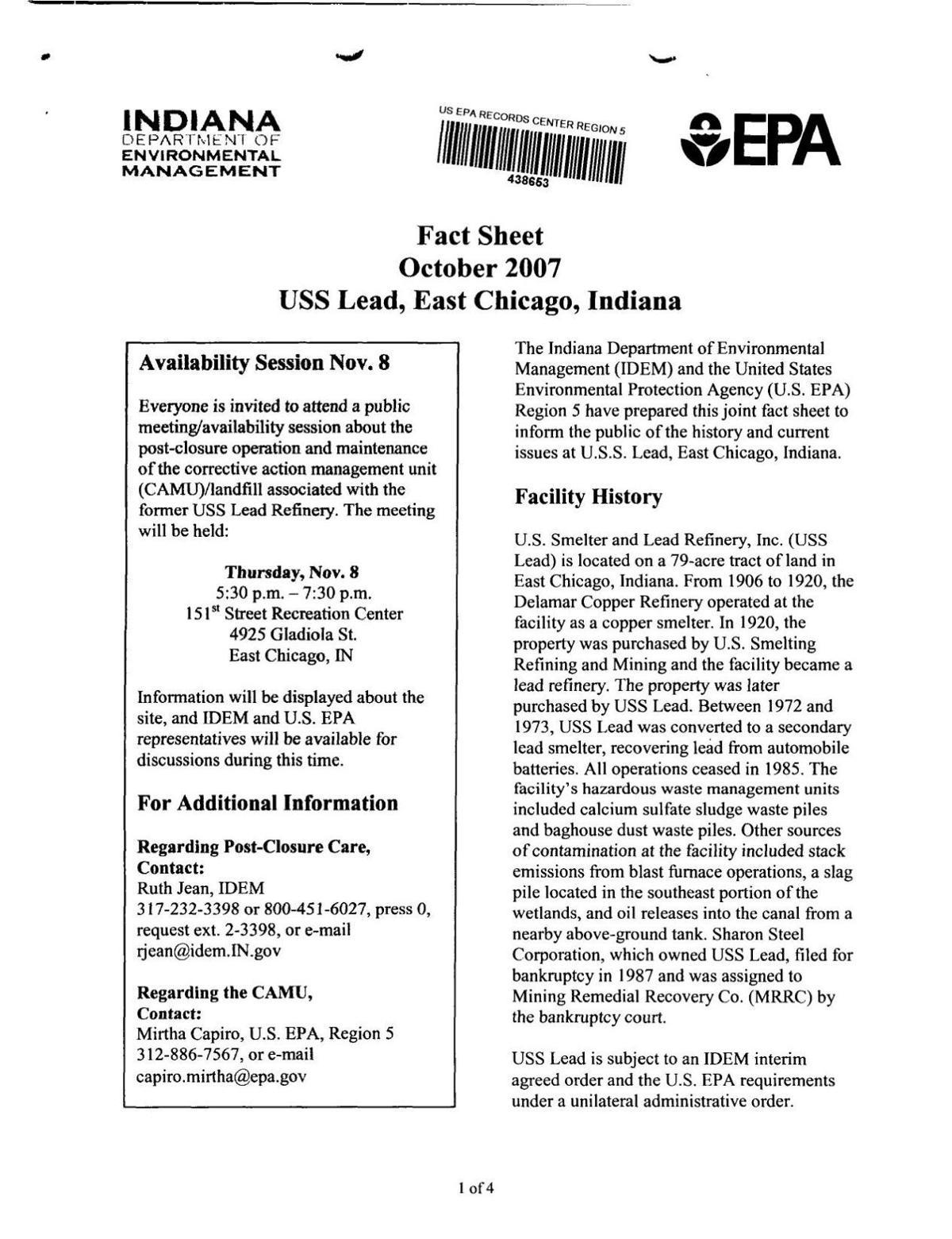 2007 EPA fact sheet