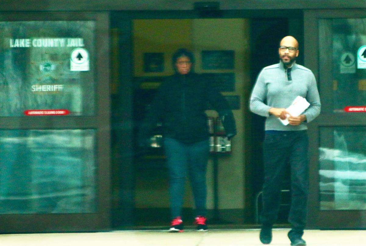 Lake County Councilman Jamal Washington leaving the Lake County Jail early Thursday