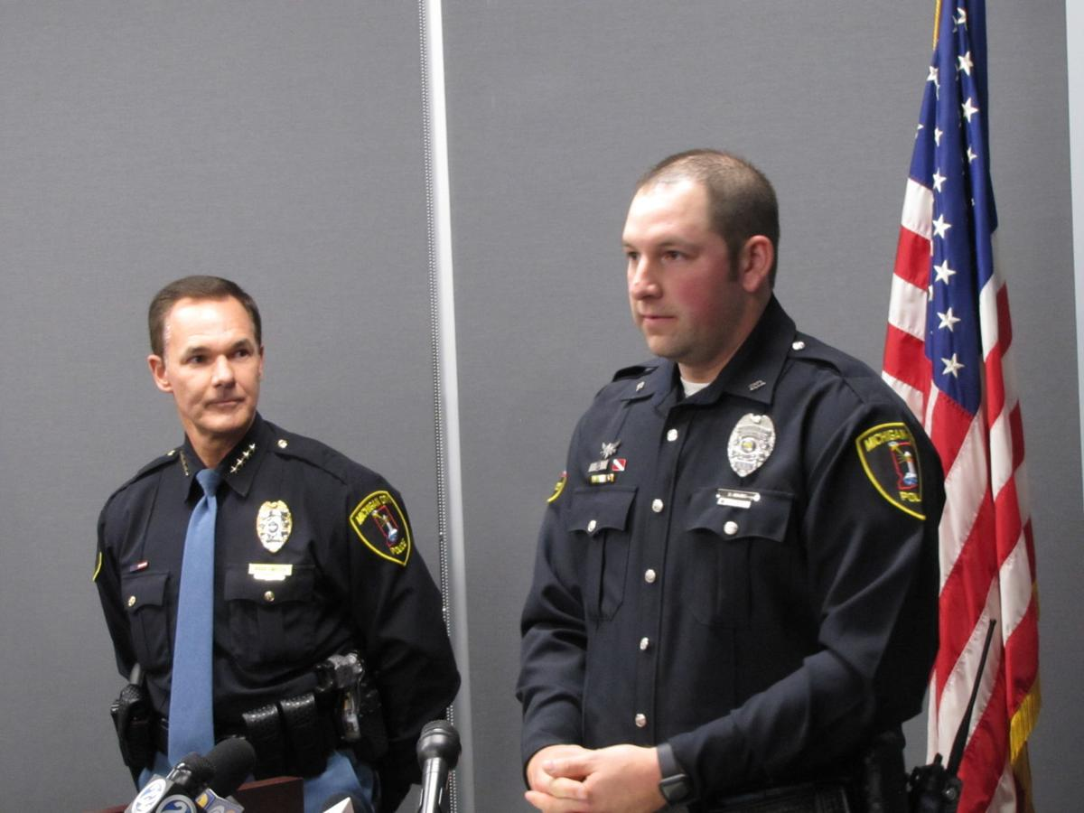 Michigan City officer awarded for saving life of girl in dog attack