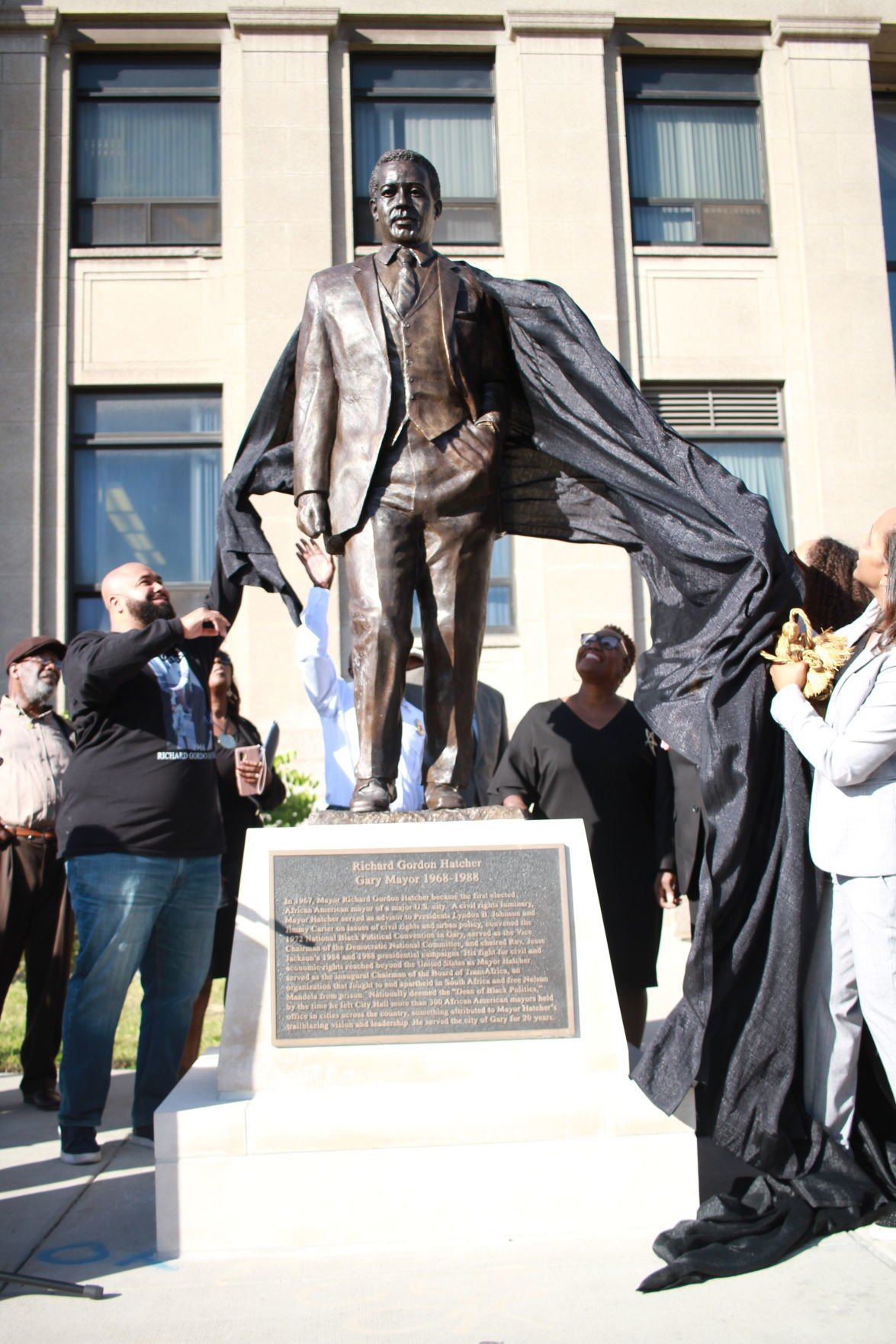 Hatcher statue unveiling