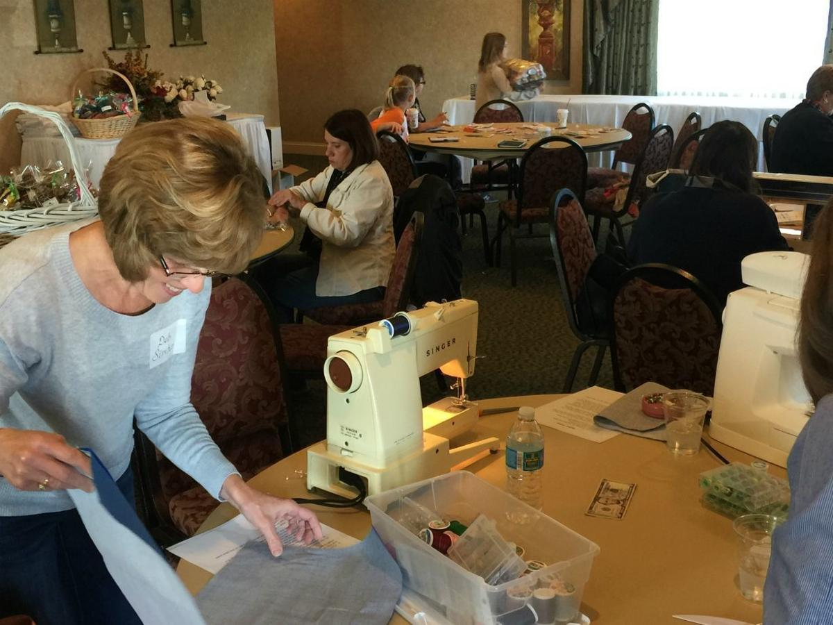 Volunteers sew for seniors