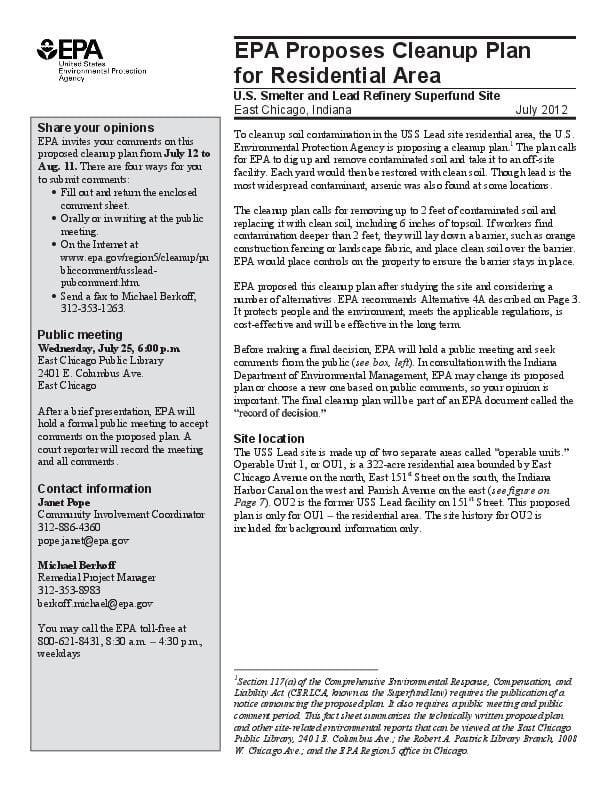2012 EPA fact sheet