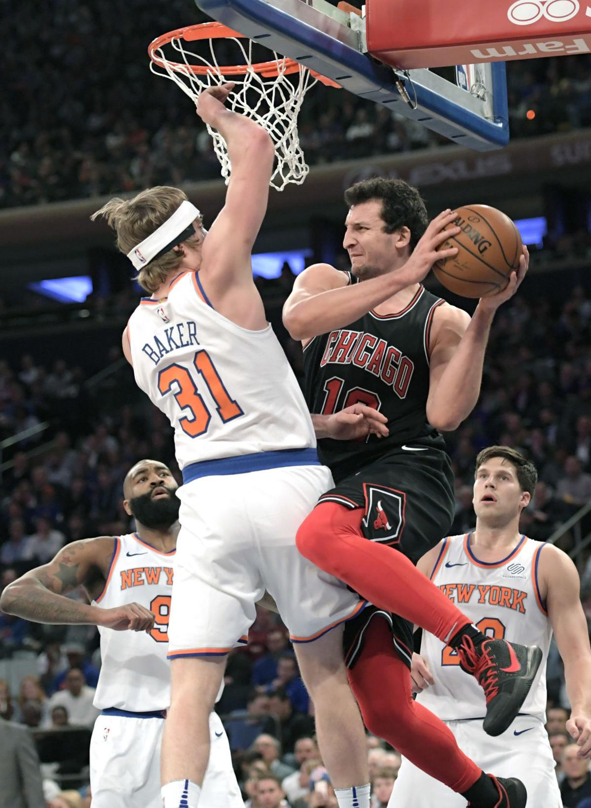 Bulls Knicks Basketball