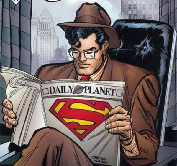 Reporter Clark Kent at The Daily Planet Newspaper