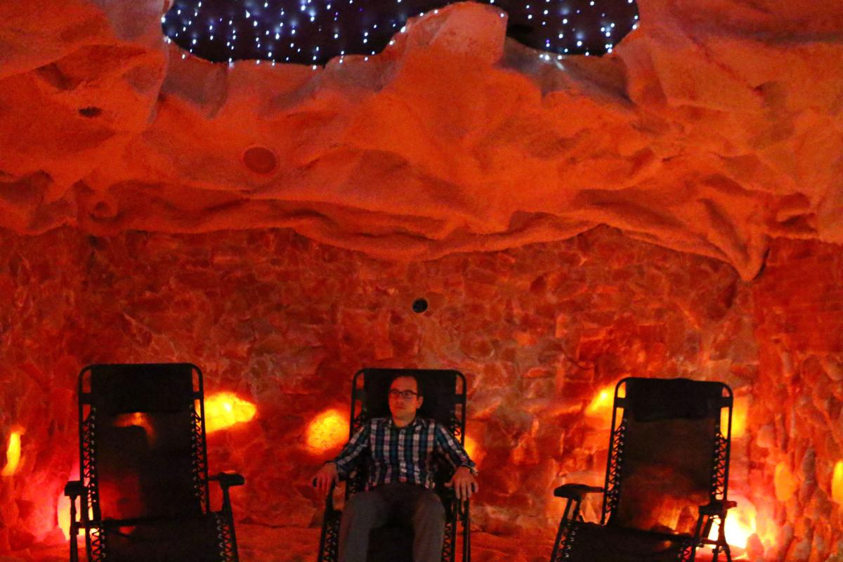 Giles Bruce in the Salt Cave