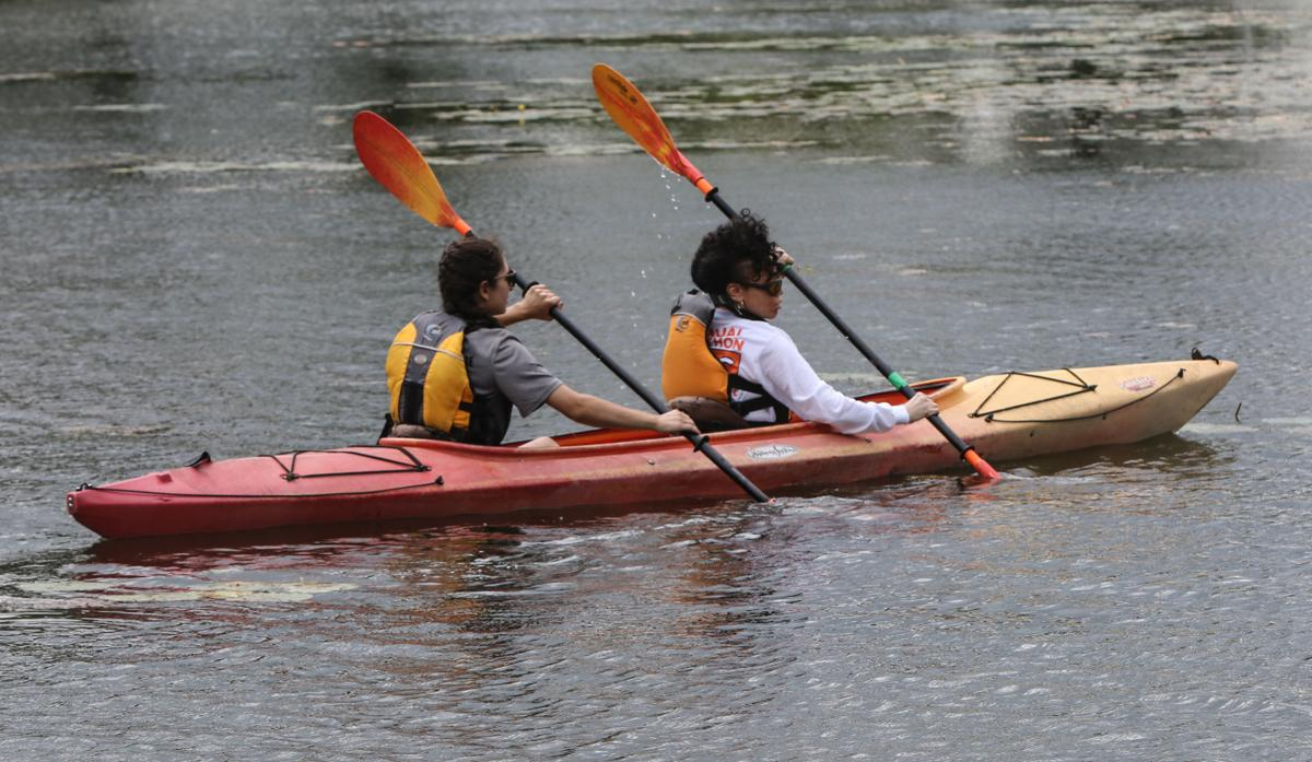 Kayaking for the blind on the Marquette lagoon