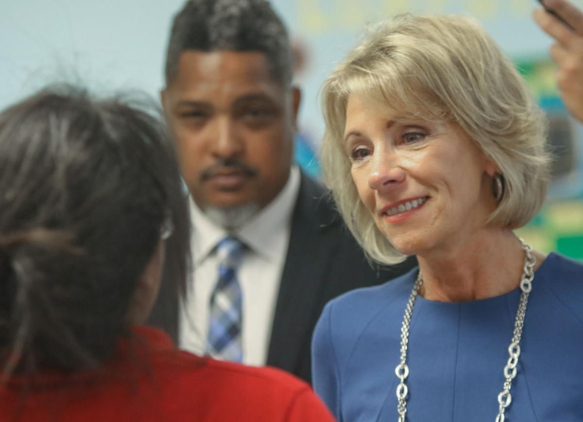 U.S. Secretary of Education Betsy Devos visits two Gary schools