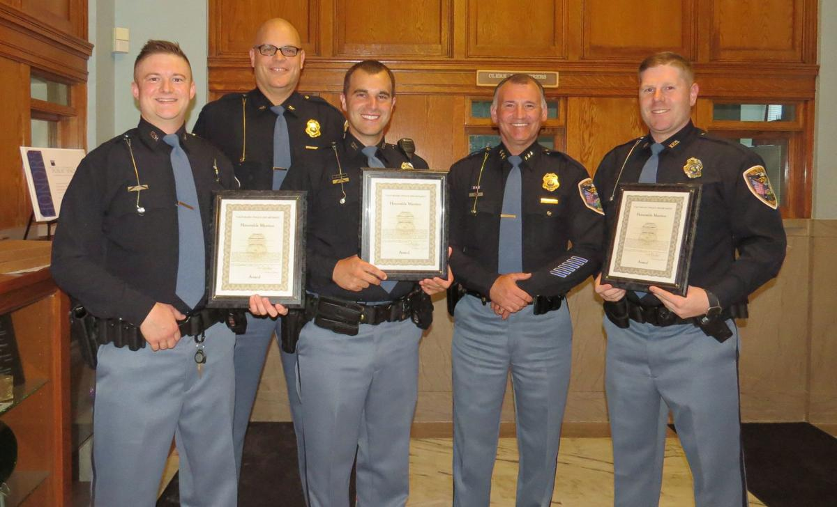 Valparaiso police honor three officers for exemplary actions while on duty