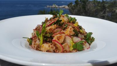 Smoky Quinoa and Rock Shrimp Salad