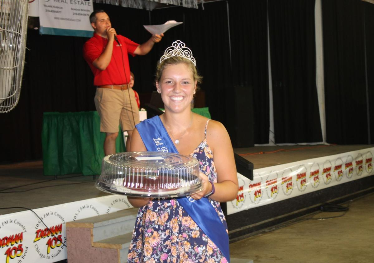 Porter County Fair queen runner-up Meredith Sands,