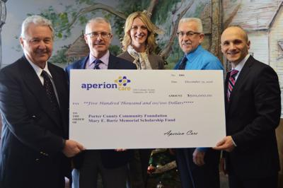 Aperion Care gift funds foundation scholarships