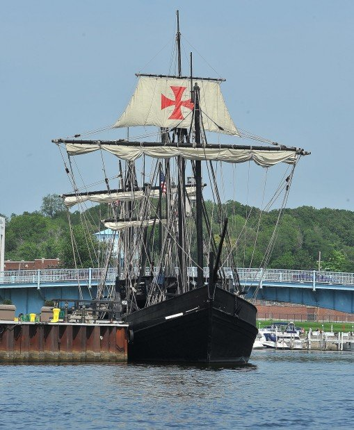 Replicas Of Nina, Pinta Dock At Michigan City Port