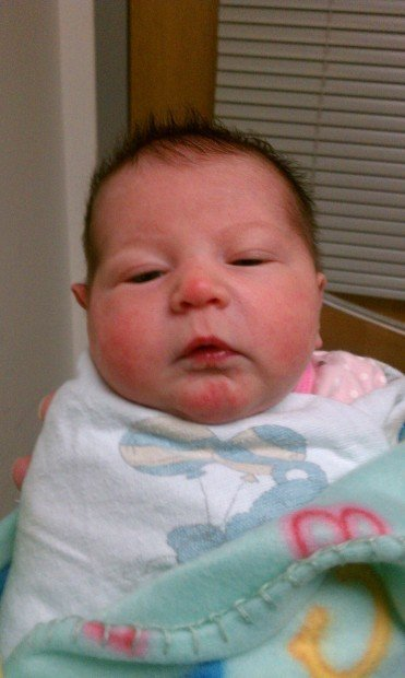 Abandoned newborn baby girl is found on steps of Merrillville police officer's home
