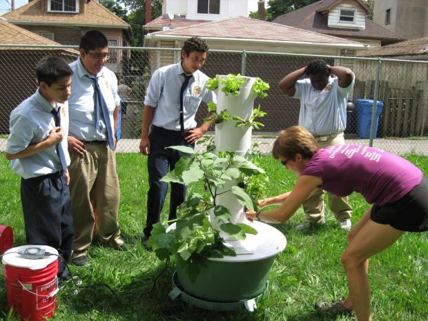 East Side high school gets Tower Garden