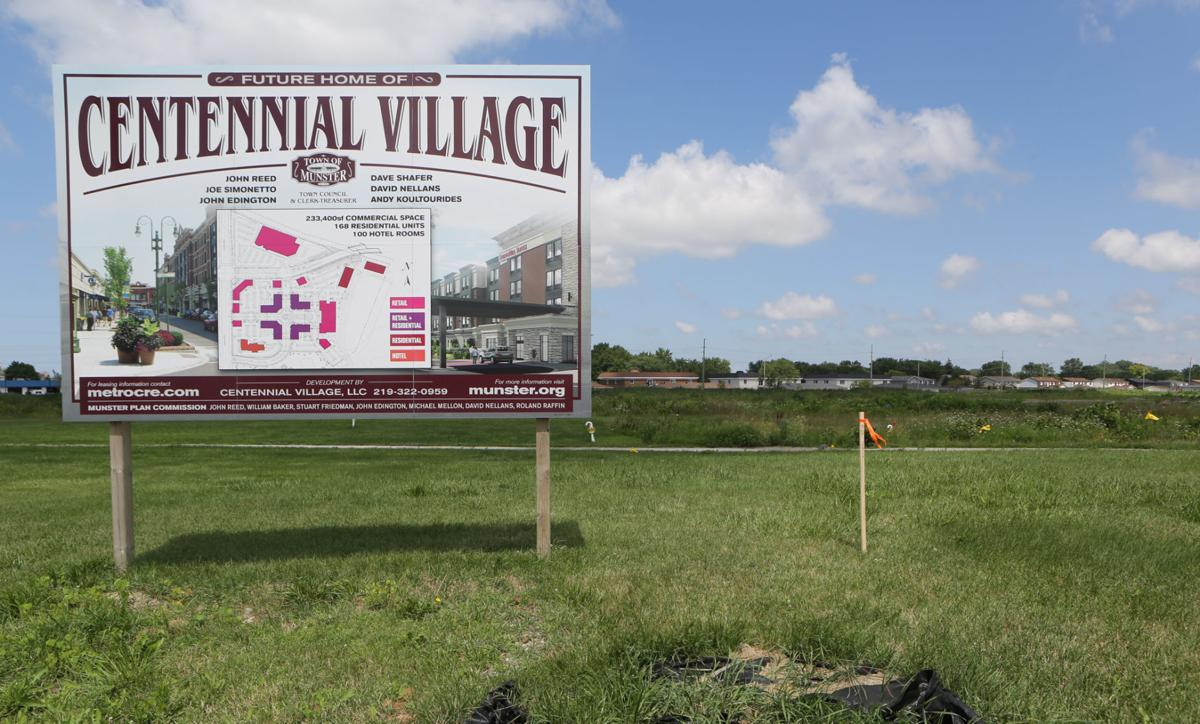 Work continues at the Centennial Village site in Munster
