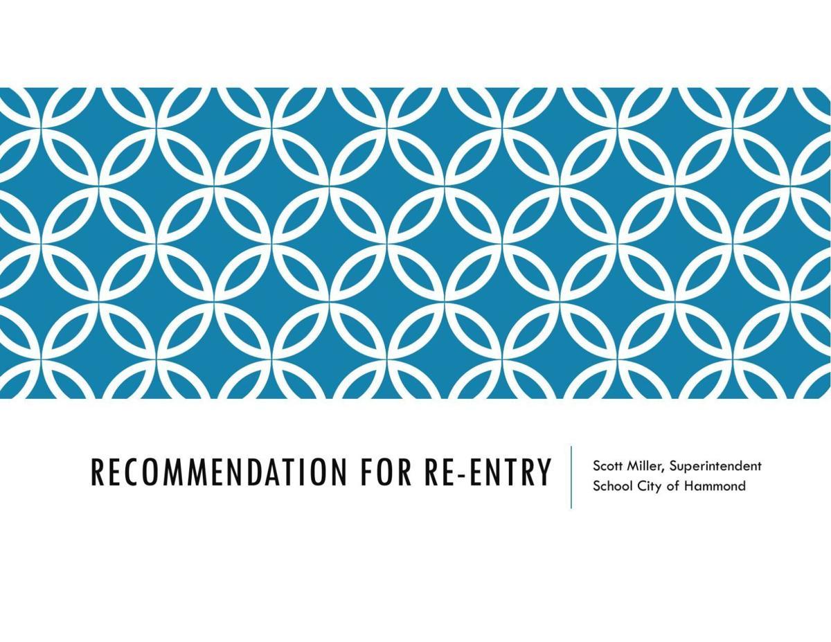 Hammond School Reopening Recommendations