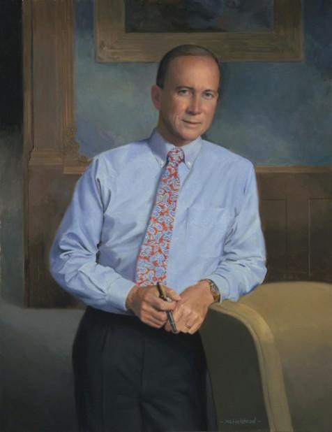 Gov. Mitch Daniels portrait