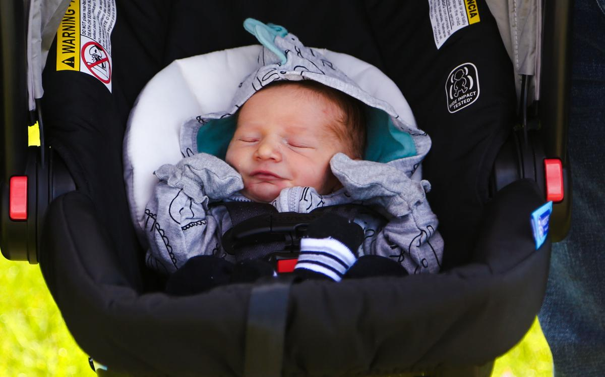 Newborn arrives home in style