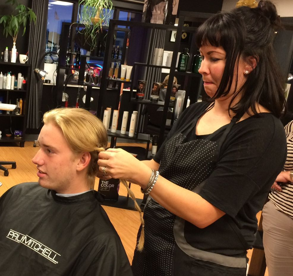 JIM PETERS: Boone's Kidd Gets Hair Cut For A Great Cause
