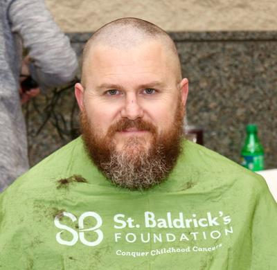 Chase goes bald at St. Baldrick's