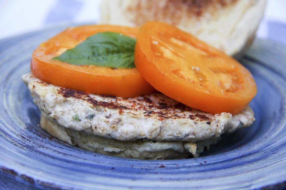 Food Healthy Cheesy Oat Burgers