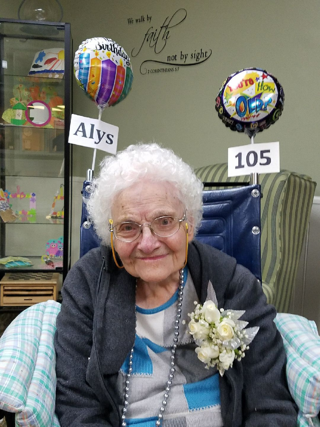 Alys Helfen celebrates 105th birthday!