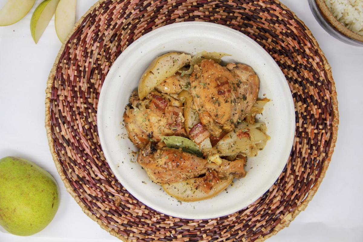 Food Column Healthy Chicken With Pears And Cider