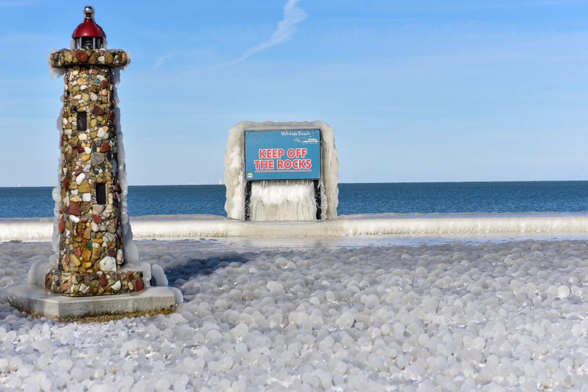 Frozen at Whiting Lakefront