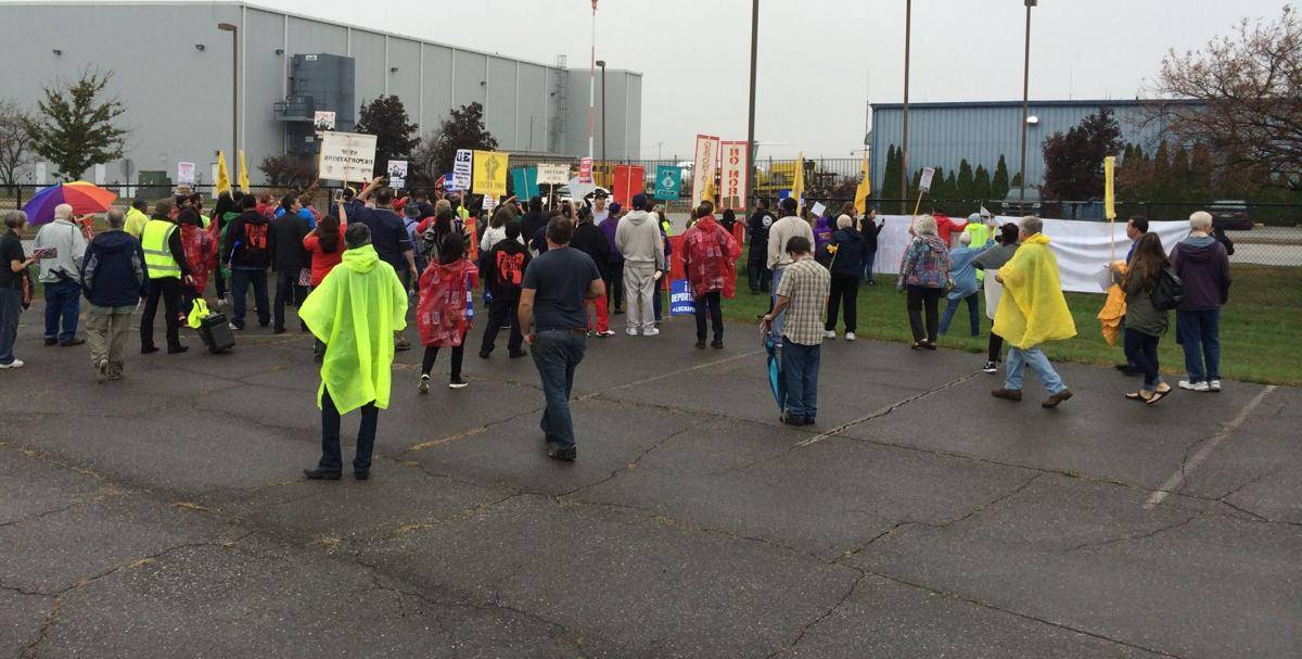 Gary airport protesters