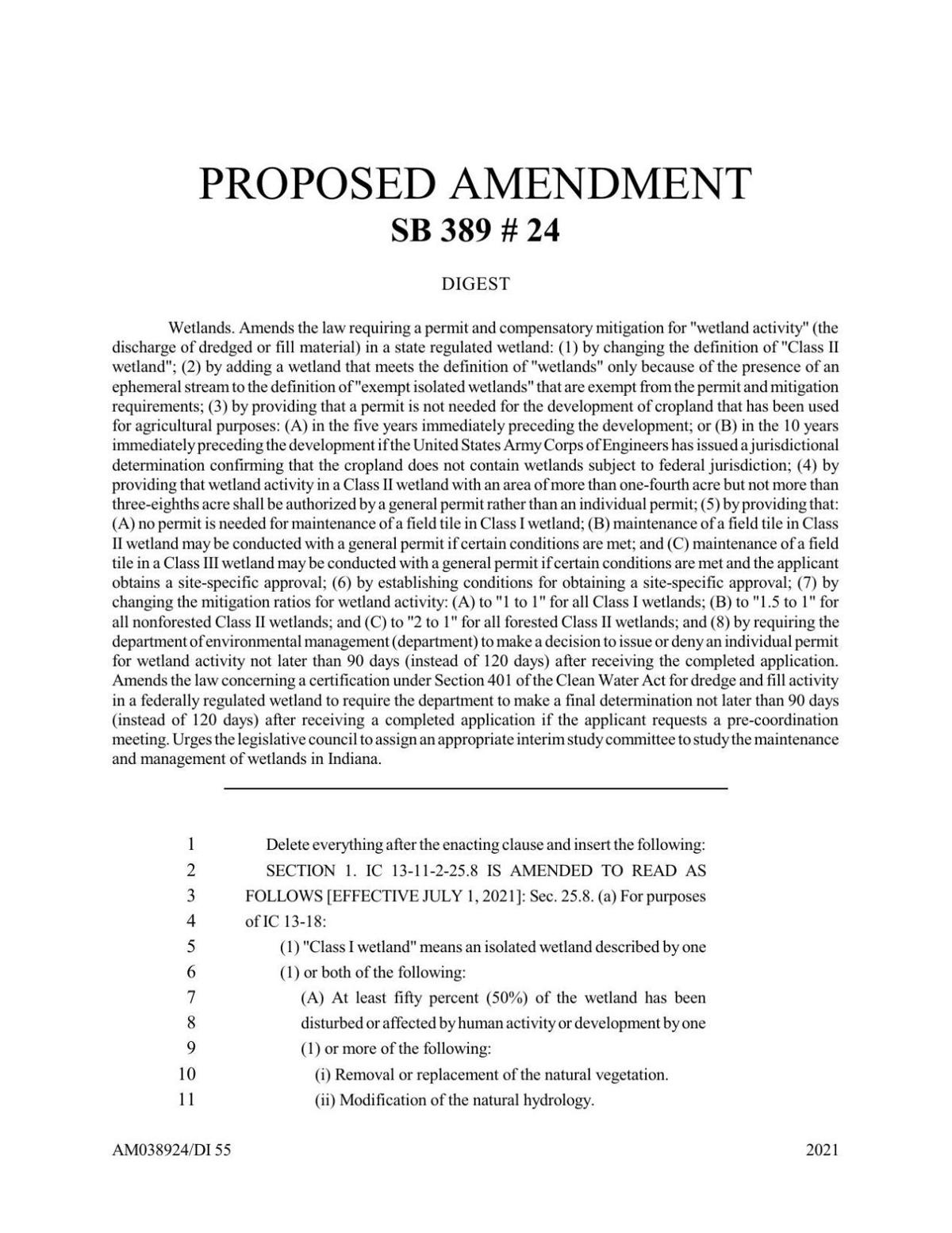 Senate Bill 389 as revised April 7, 2021