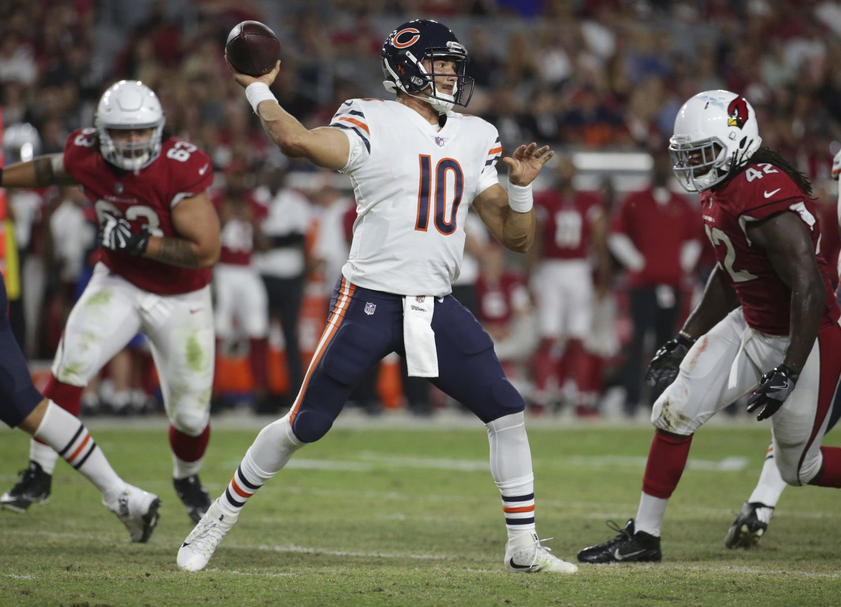 Bears will team Mitch Trubisky with first-stringers but he won't start
