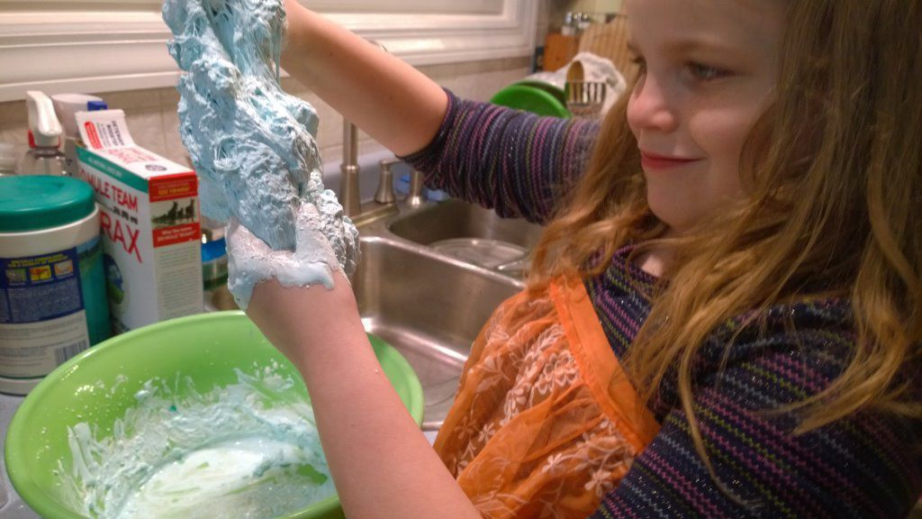 Families finding fun with slime-making fad