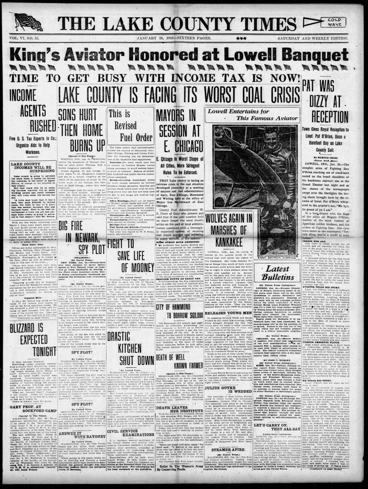 Jan. 26, 1918: Lake County Is Facing Its Worst Coal Crisis