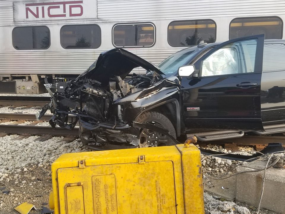 Train collides with South Shore train